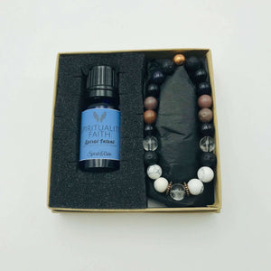 Faith bracelet with diffuser oil blend 10 ml