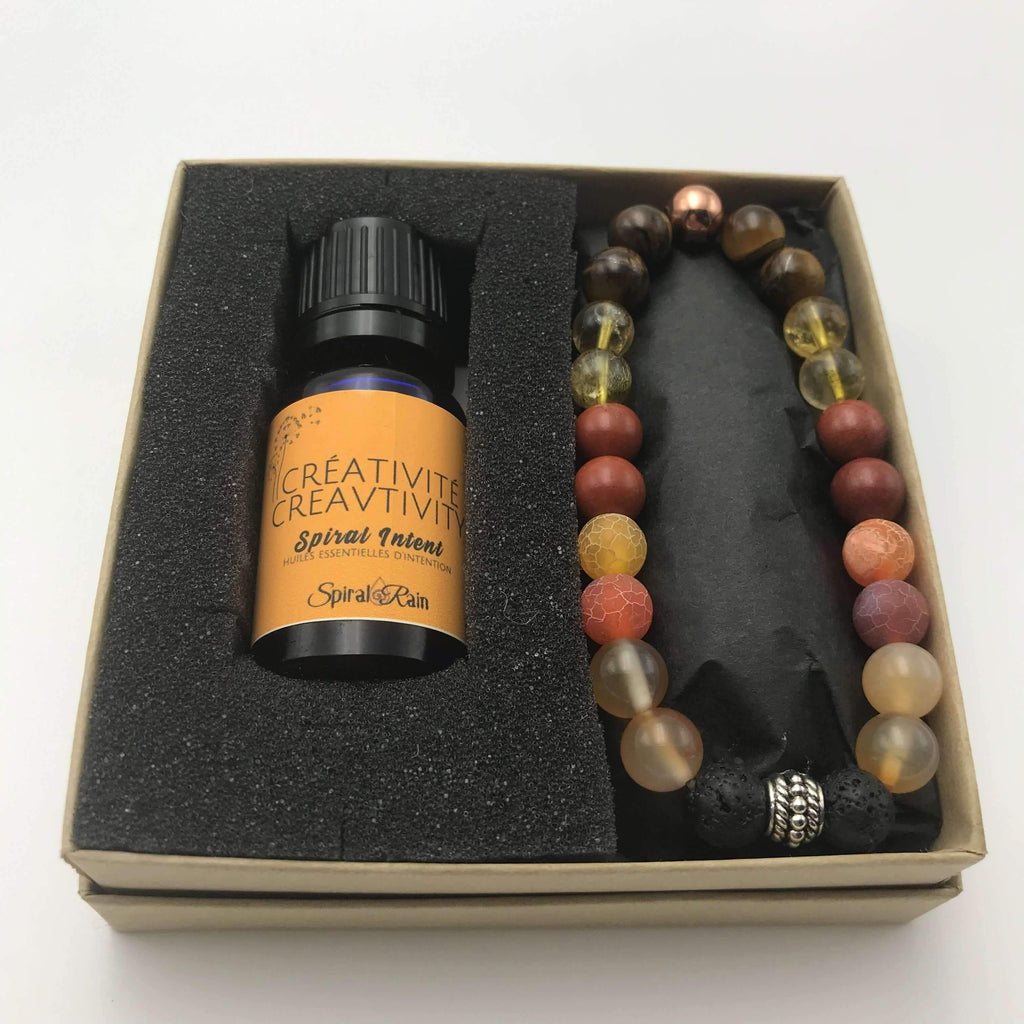 Creativity bracelet with diffuser oil blend 10 ml