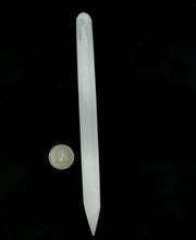 Load image into Gallery viewer, Selenite Wand Thin 1/2''