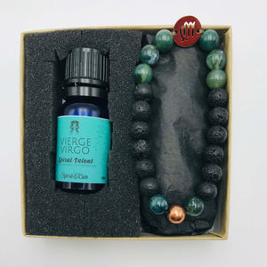 Virgo bracelet with diffuser oil blend 10 ml