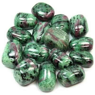 Ruby Zoisite (Anyolite) Tumbled