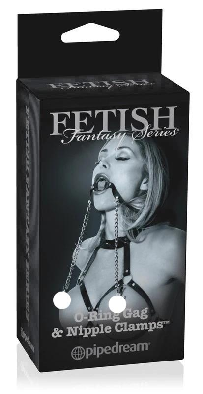 Fetish Fantasy Limited Edition-O Ring Ball Gag & Nipple Clamps