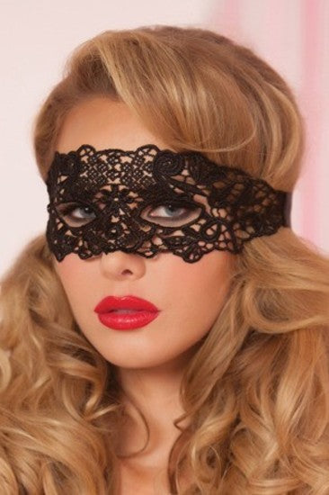 Galloon Lace Eye Mask STM-40132-OS-Black