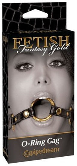 Fetish Fantasy Gold O-Ring Gag Black