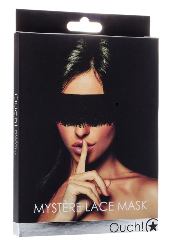 Ouch Mystere Lace Mask Black
