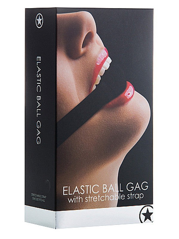 Ouch Elastic Ball Gag - Black