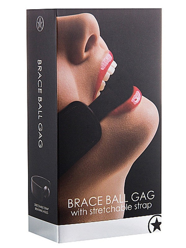 Ouch Brace Ball Gag - Black