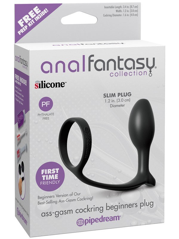 Anal Fantasy Collection Ass-Gasm Cock Ring Beginners Plug