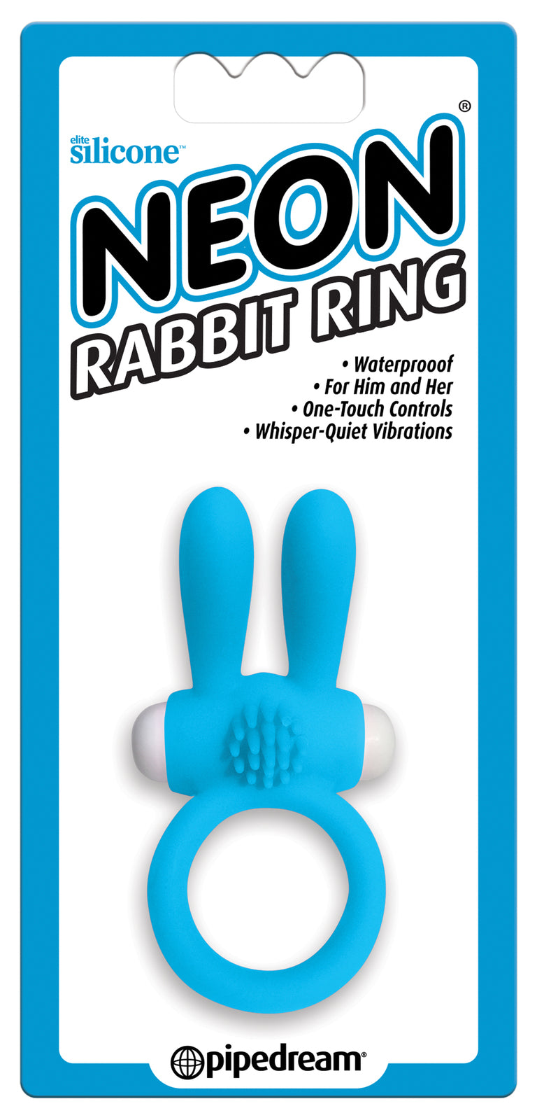Neon Rabbit Ring Blue