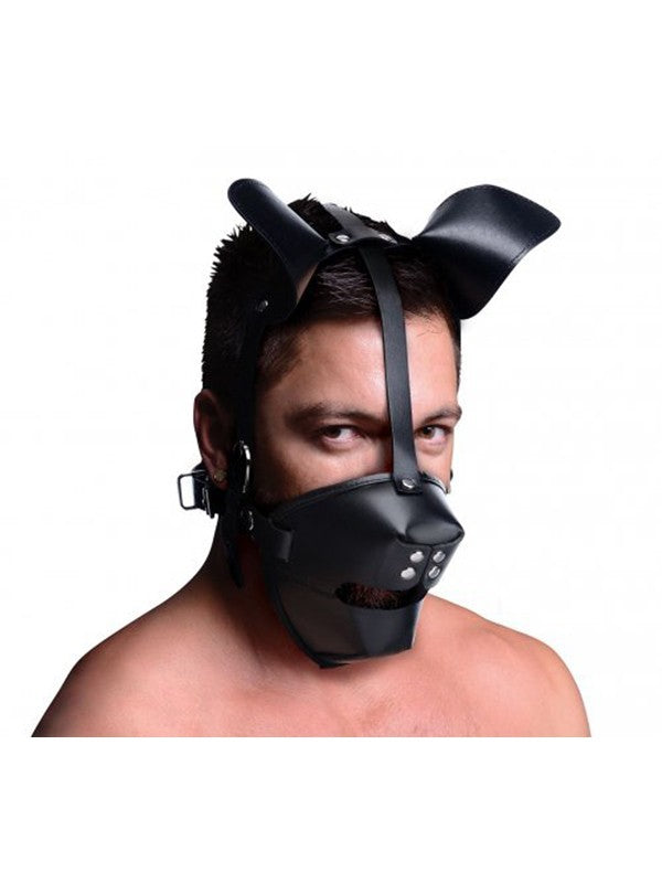 Pup Puppy Play Hood Breathable Ball Gag
