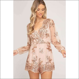 4125ee2a56 Sequin Obsession Playsuit - Rose Gold   S - Women - Apparel -  Jumpsuits rompers