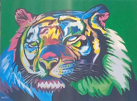 DAXX TFWALA ART - Rainbow Nation Tiger Painting - QURATOR™ Market