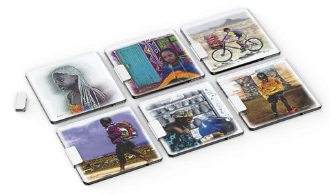ANDY CARTWRIGHT Afrique Glass Coasters (Set of 6) - QURATOR™ Market