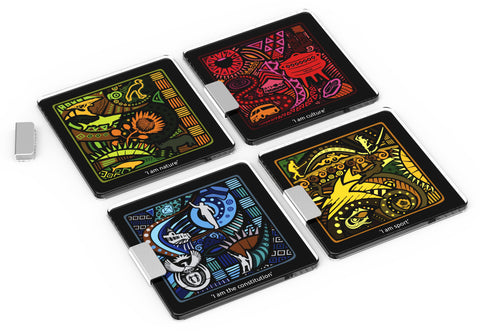 ANDY CARTWRIGHT Sud-Afrique Glass Coasters (Set of 4) - QURATOR™ Market