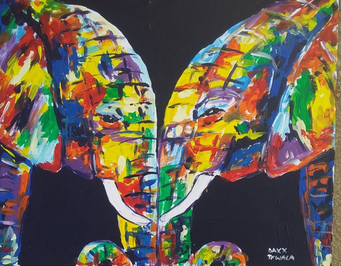 DAXX TFWALA ART - Elephant Love Painting - QURATOR™ Market