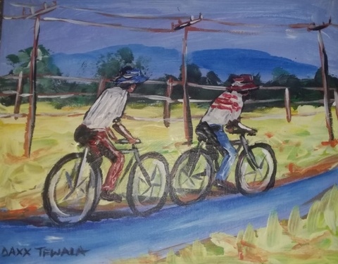 DAXX TFWALA ART - Rural African Travel on Bicycles - QURATOR™ Market
