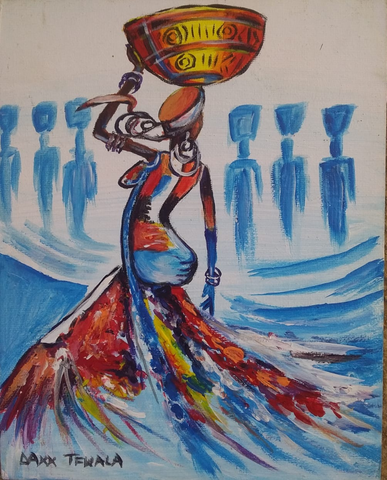 DAXX TFWALA ART - Woman with Basket Painting - QURATOR™ Market