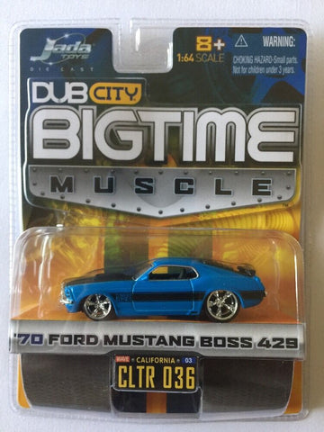DUBCITY Big Time Musle 1970 Ford Mustang Bos 429 : 1/64 Scale - QURATOR™ Market