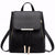 Black PU Leather Backpack Bag