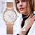 Rose Gold Women Bracelet Wrist Watch