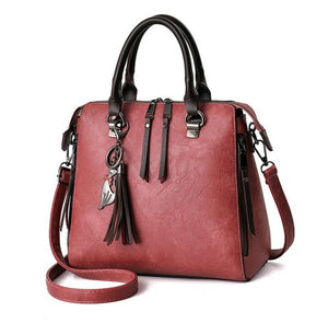 Women Shoulder Large Capacity Casual Leather Bag