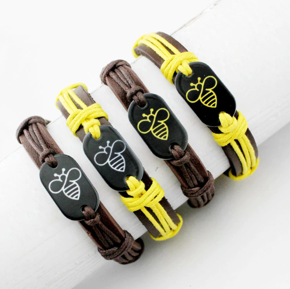"""Handmade STB"" Leather Bracelet"