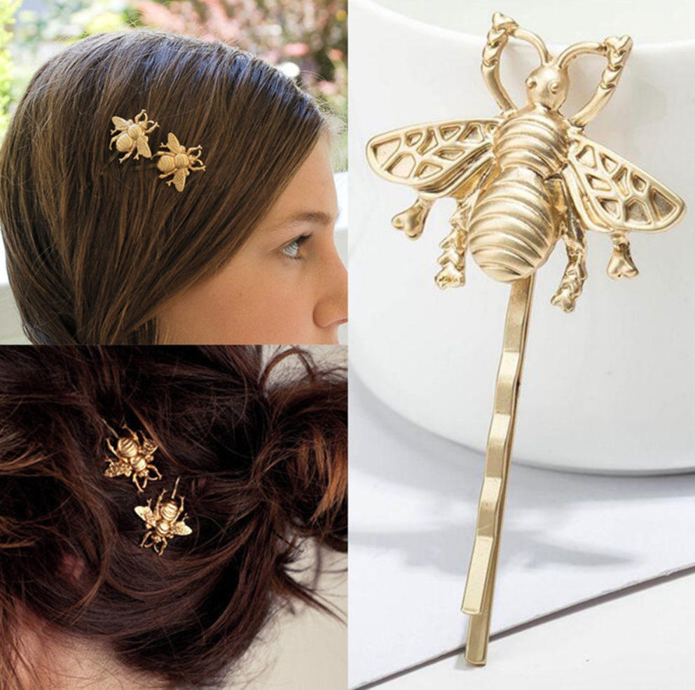 """Golden Bee"" Hair Clip"