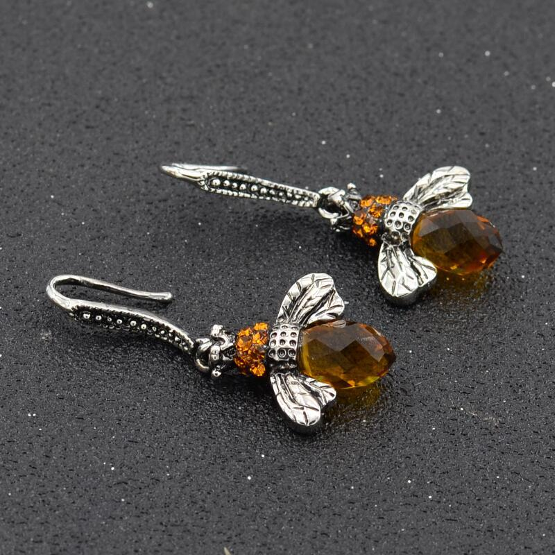 """Honey Bee"" Earrings"