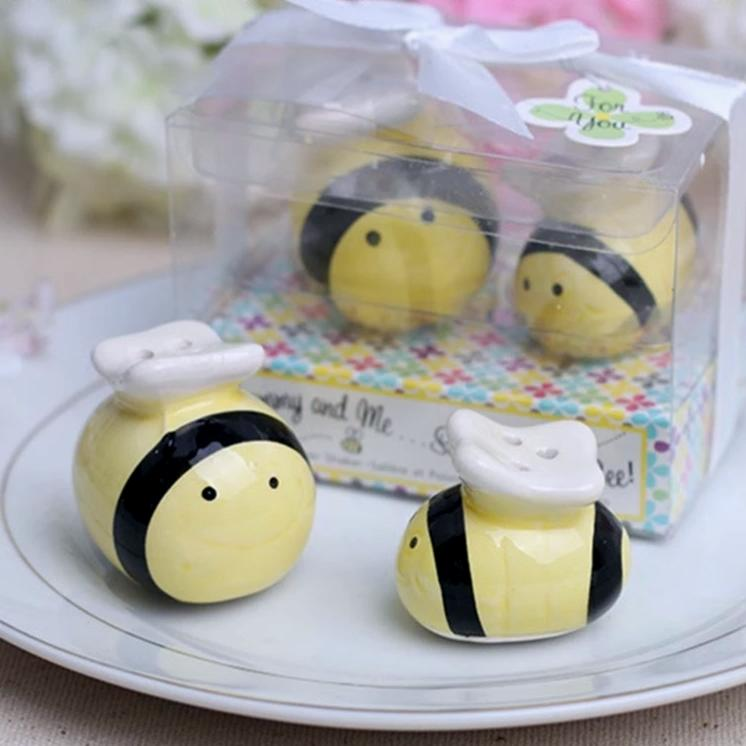 """Salty Bee"" Salt and Pepper Shaker"