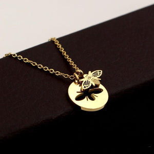 """Hollow Bee"" Pendant Necklace"