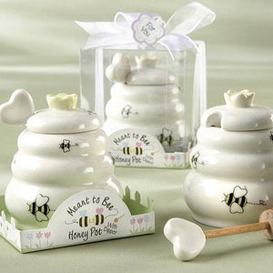 """Sweet As Can Bee"" Ceramic Honey Pot"