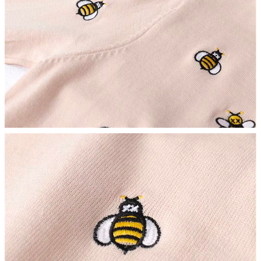 """Bee Swarm"" Embroidered Sweater"