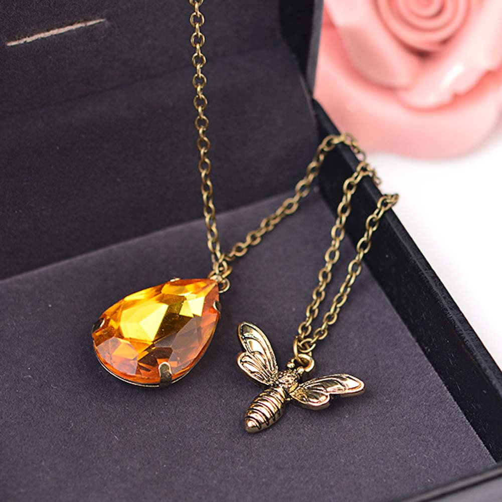 """Crystal Honey Bee"" Necklace"