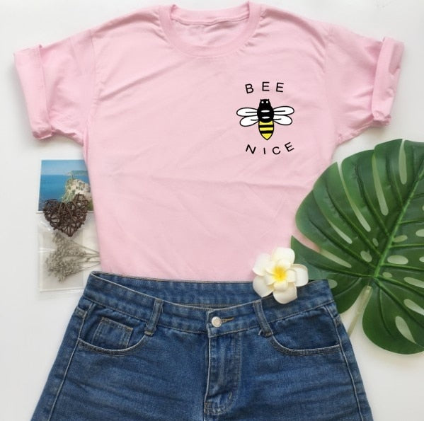 """Bee Nice"" Graphic Tee"