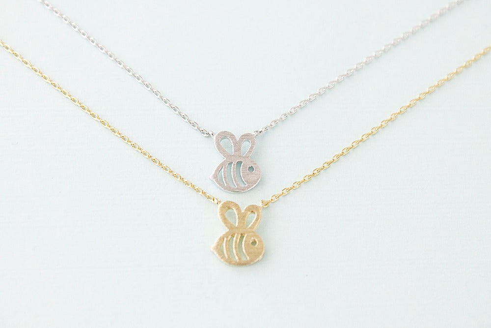 """Simple Bee"" Charm Necklace"