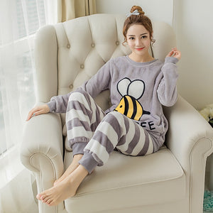 """Striped Bee"" Pajama Set"