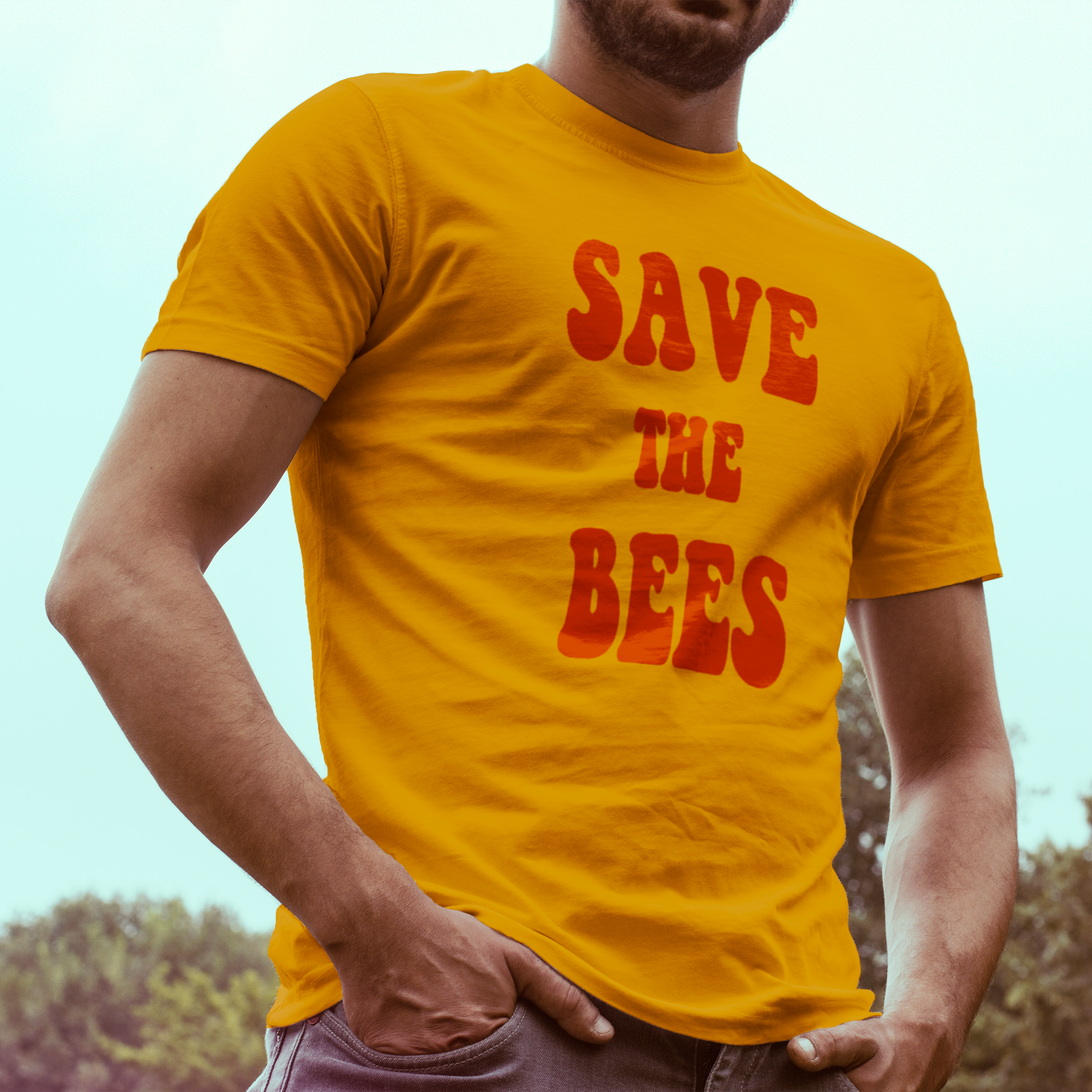 """Vintage Save The Bees"" Graphic Tee"