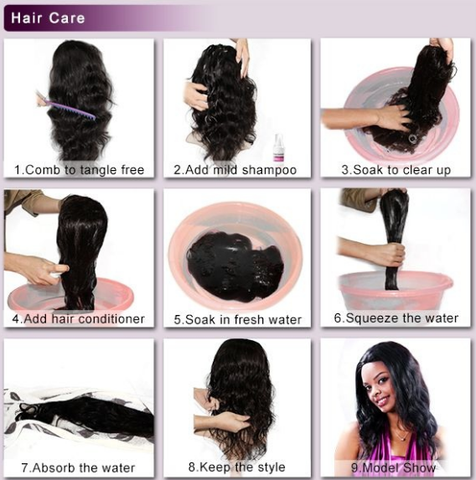 step of maintain human hair wigs