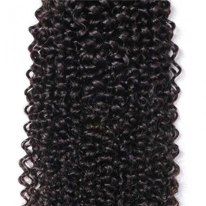 1 Bundle Kinky Curly Remy Human Hair Weaves