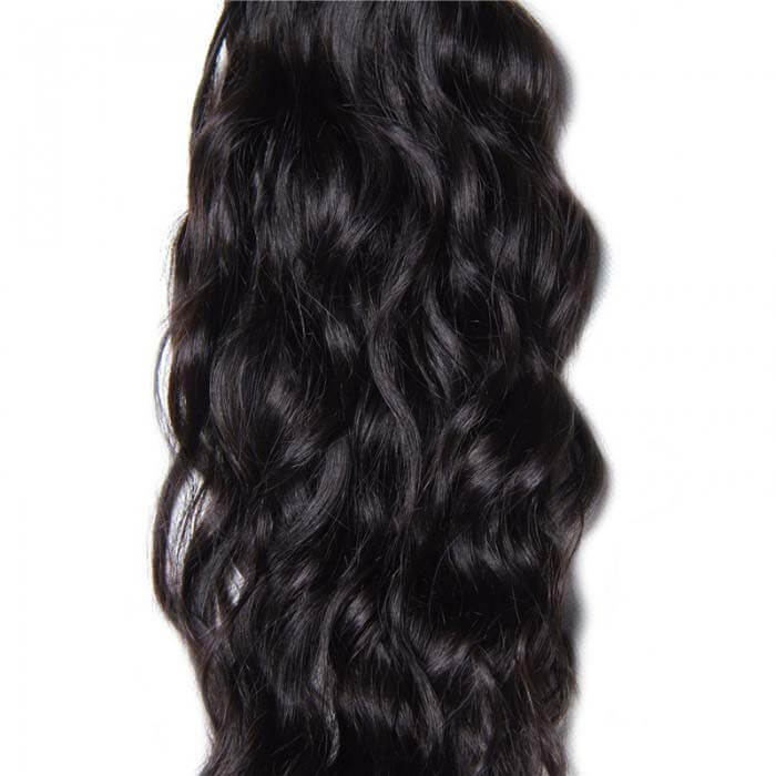 1 Bundle Natural Wave Remy Human Hair Weaves