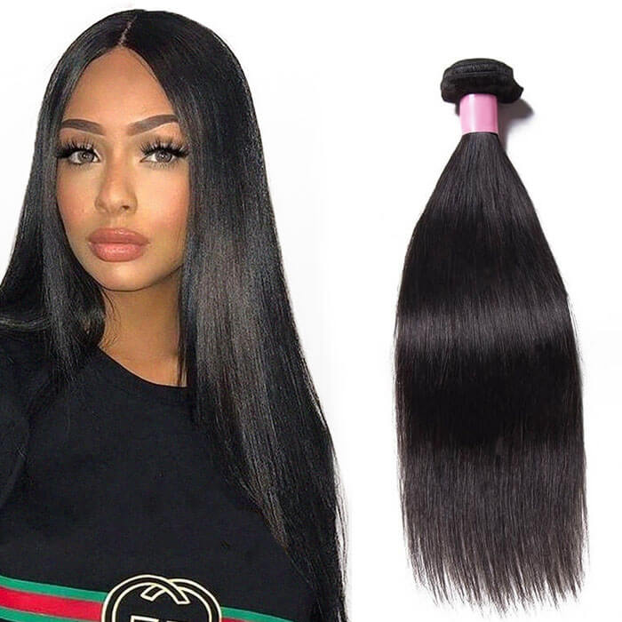 1 Bundle Straight Remy Human Hair Weaves