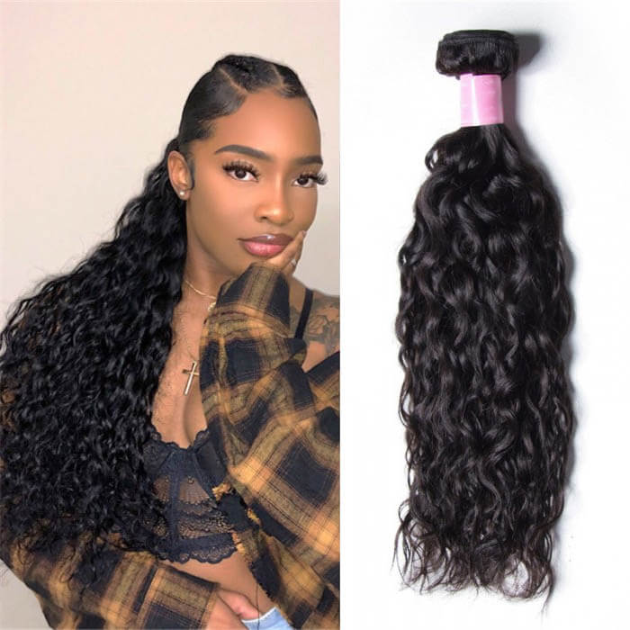 1 Bundle Water Wave Remy Human Hair Weaves