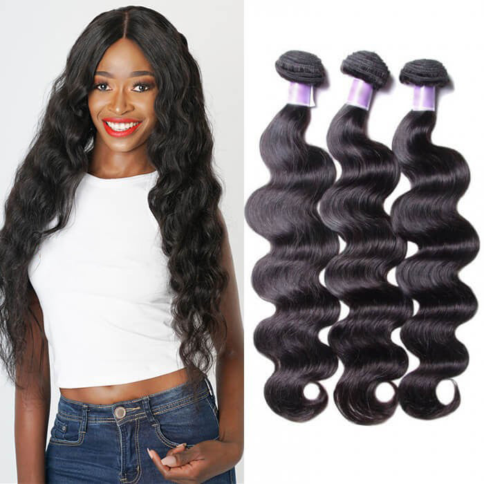 3 Bundles Body Wave Remy Human Hair Weaves