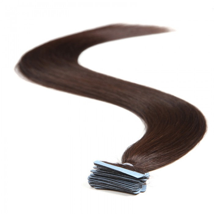 Straight Tape In Hair Extensions Dark Brown