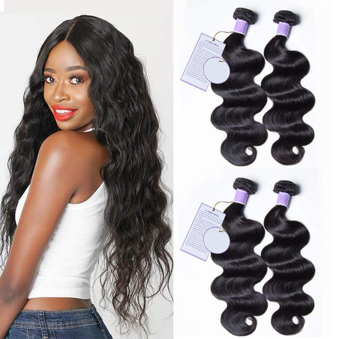 4 Bundles Body Wave Remy Human Hair Weaves