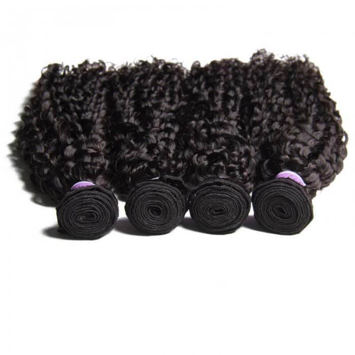 4 Bundles Curly Remy Human Hair Weaves