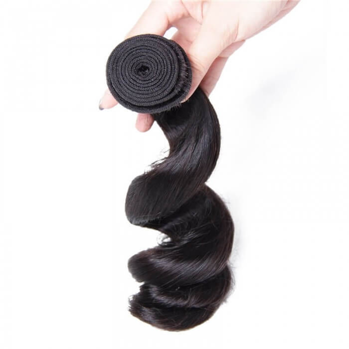 4 Bundles Loose Wave Remy Human Hair Weaves