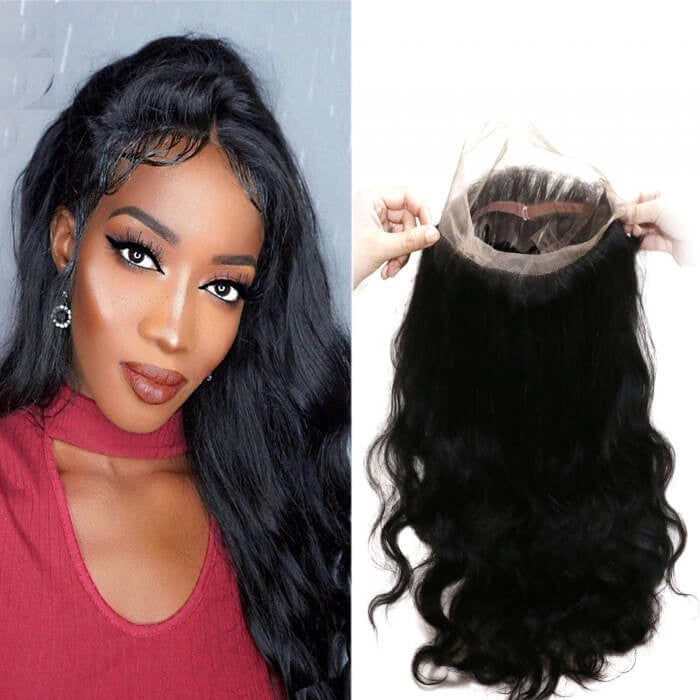 Body Wave Remy Human Hair 360 Lace Frontal Closure