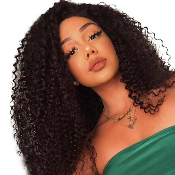 Curly Human Hair 360 Lace Wigs