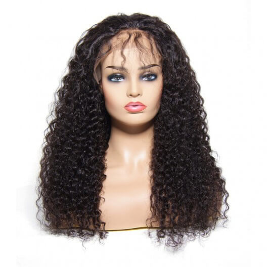 Curly Human Hair Lace Front Wigs